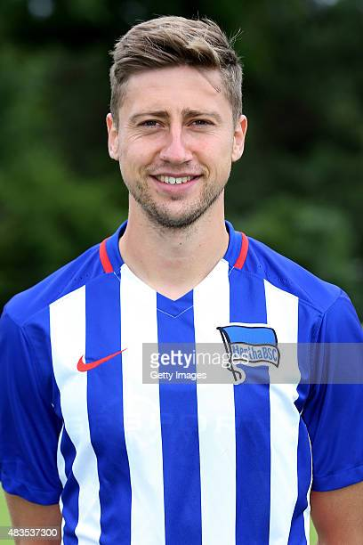 Jens Hegeler poses during the Hertha BSC team presentation on July 10 2015 in Berlin Germany