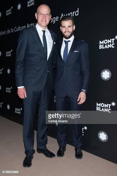 Jens Henning Koch and Nacho Fernandez attend Montblanc de la Culture Arts Patronage Award at the Madrid Palacio Liria on May 4 2017 in Madrid Spain