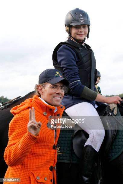 Jens Hilbert and LisaMarie Koroll attend the Till Demtroeders CharityEvent 'Usedom Cross Country' on September 9 2017 near Heringsdorf at Usedom...