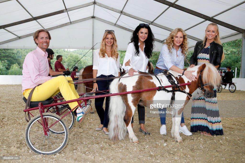 Jens Hilbert, Susan Sideropoulos, Mariella Ahrens, Katja Burkard and Jenny Elvers during the Balve Optimum International Horse Show on June 10, 2017 in Balve, Germany.