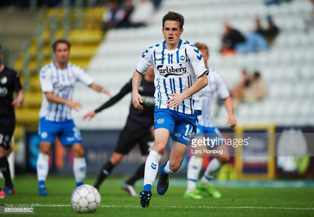 Jens Jakob Thomasen of OB Odense in action during the Danish Alka Superliga match between OB Odense and Randers FC at EWII Park on May 20 2017 in...