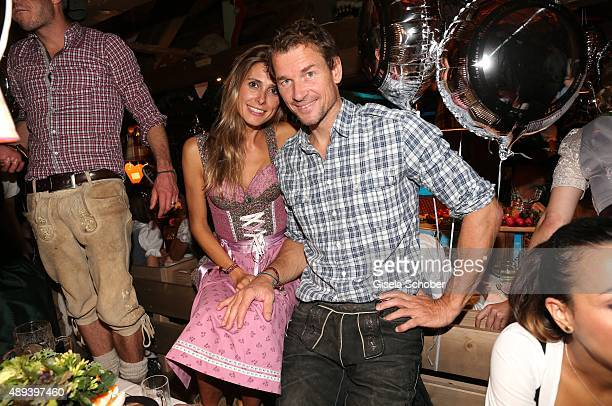 Jens Lehmann and his wife Conny attend the Almauftrieb during the Oktoberfest 2015 at Kaeferschaenke beer tent on September 20 2015 in Munich Germany