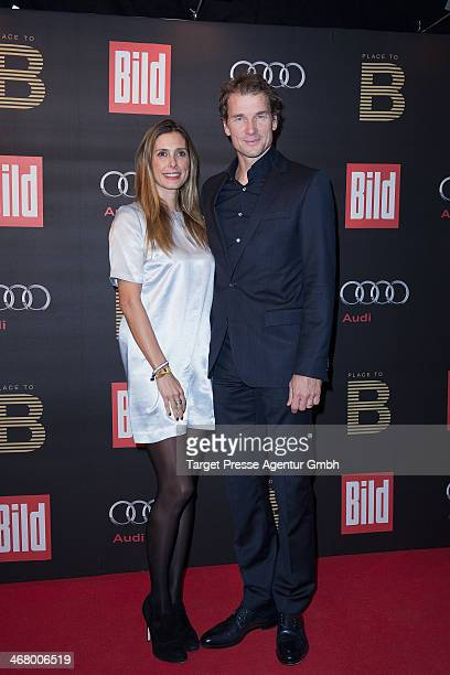 Jens Lehmann and his wife Conny attend the BILD 'Place to B' Party at Grill Royal on February 8 2014 in Berlin Germany