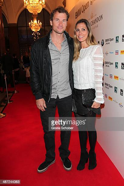 Jens Lehmann and his wife Conny Lehmann attend the BMW Open Players Night at Rilano No 6 on April 28 2014 in Munich Germany