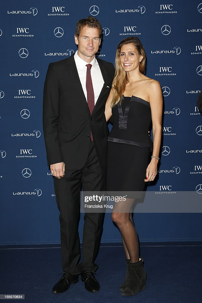 Jens Lehmann and his wife Conny Lehmann attend the Laureus Media Award 2012 on November 05, 2012 in Kitzbuehel, Austria.