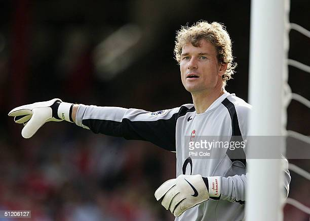 Jens Lehmann of Arsenal during the Barclays Premiership match between Arsenal and Middlesbrough at Highbury on August 22 2004 in London