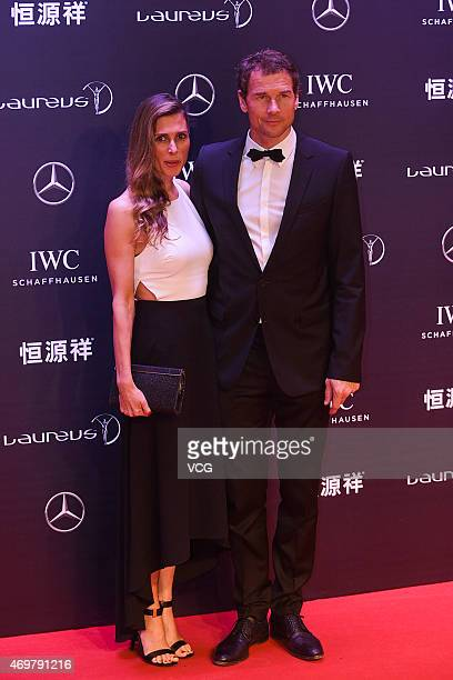 Jens Lehmann of Germany football player and guest attend the 2015 Laureus World Sports Awards at Shanghai Grand Theatre on April 15 2015 in Shanghai...