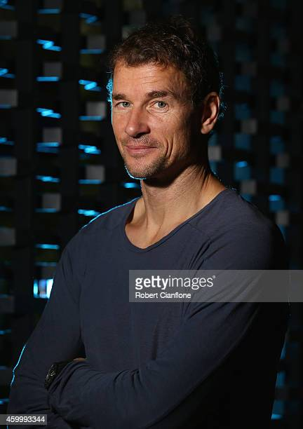 Jens Lehmann poses during a Global Legends Series portrait session at the Swissotel on December 5 2014 in Bangkok Thailand
