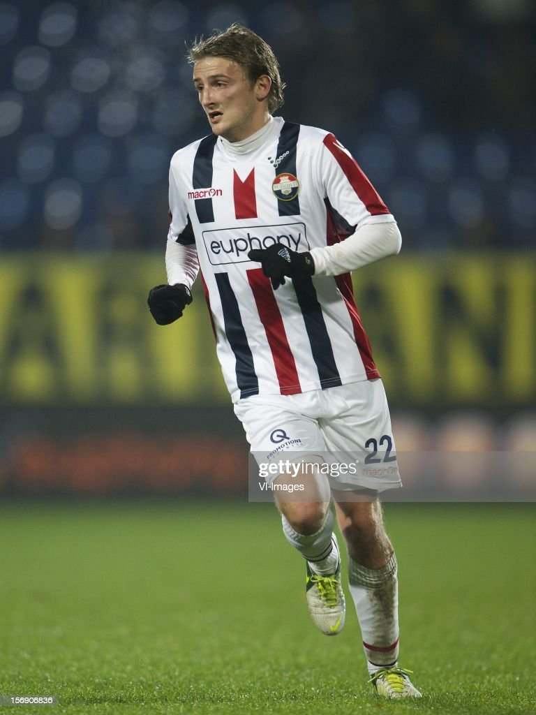 Jens Podevijn of Willem II during the Dutch Eredivisie match between Willem II and Heracles Almelo at the Koning Willem II Stadium on November 24, 2012 in Tilburg, The Netherlands.