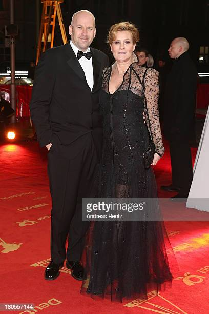 Jens Schniedenharn and Suzanne von Borsody attends 'Goldene Kamera 2013' at Axel Springer Haus on February 2 2013 in Berlin Germany