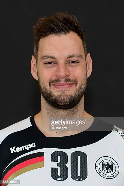 Jens Schoengarth of Germany poses during the handball national team of Germany presentation prior to the Handball World Championship in France on...