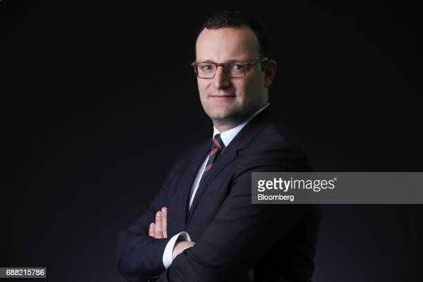Jens Spahn Germany's deputy finance minister and Christian Democratic Union party member poses for a photograph following a Bloomberg Television...