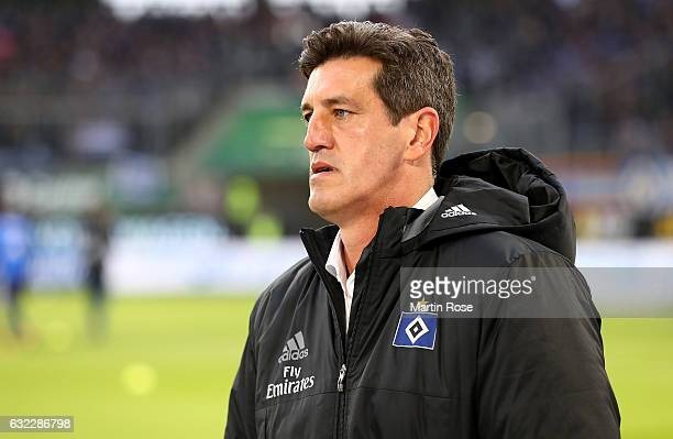 Jens Todt new sport director of Hamburg looks on before the Bundesliga match between VfL Wolfsburg and Hamburger SV at Volkswagen Arena on January 21...