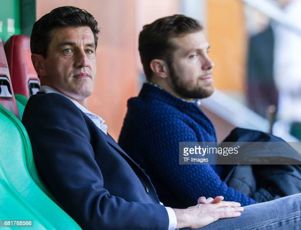 Jens Todt of Hamburg looks on during the Bundesliga match between FC Augsburg and Hamburger SV at WWK Arena on April 30 2017 in Augsburg Germany