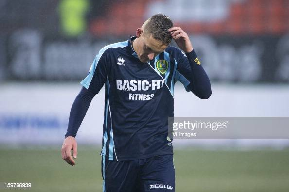 Jens Toornstra of ADO Den Haag during the Dutch Eredivise match between Willem II and ADO Den Haag at the Koning Willem II Stadium on January 20 2013...