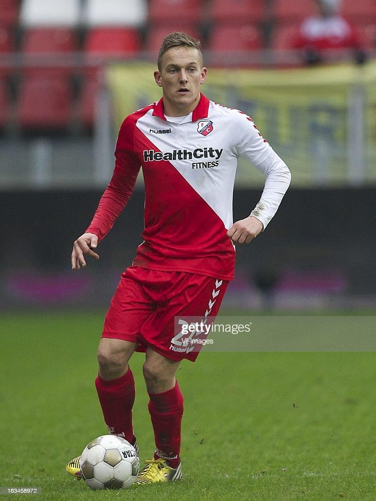 Jens Toornstra of FC Utrecht during the Dutch Eredivisie match between FC Utrecht and RKC Waalwijk at the Galgenwaard on march 10, 2013 in Utrecht, The Netherlands
