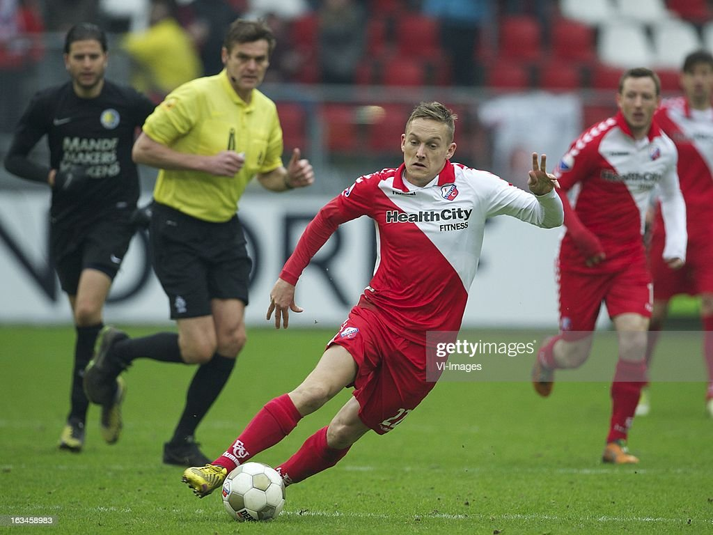 Jens Toornstra of FC Utrecht during the Dutch Eredivisie match between FC Utrecht and RKC Waalwijk at the Galgenwaard on march 10, 2013 in Utrecht, The Netherlands