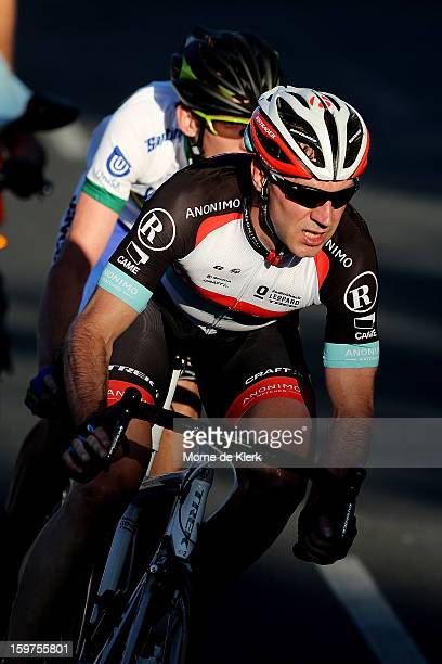 Jens Voigt of Germany and Radioshack Leopard Trek rides during the People's Choice Classic race of the Tour Down Under on January 20 2013 in Adelaide...