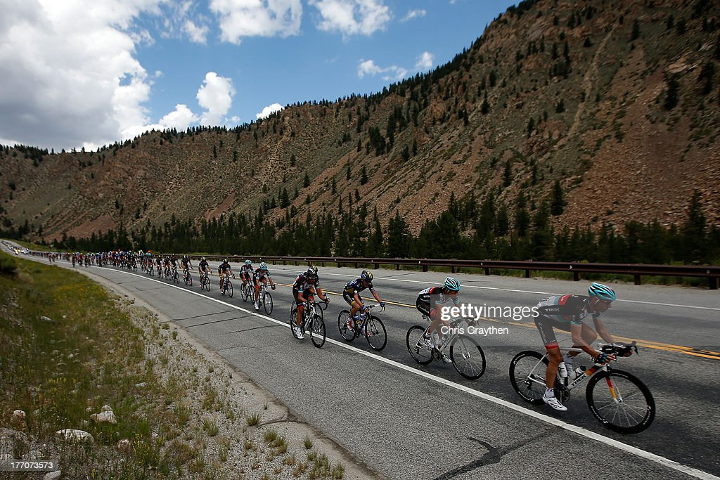 Jens Voigt of Germany and team Radio Shack Leopard Trek rides in the peloton during stage two of the 2013 USA Pro Cycling Challenge on August 20, 2013 in Aspen, Colorado.