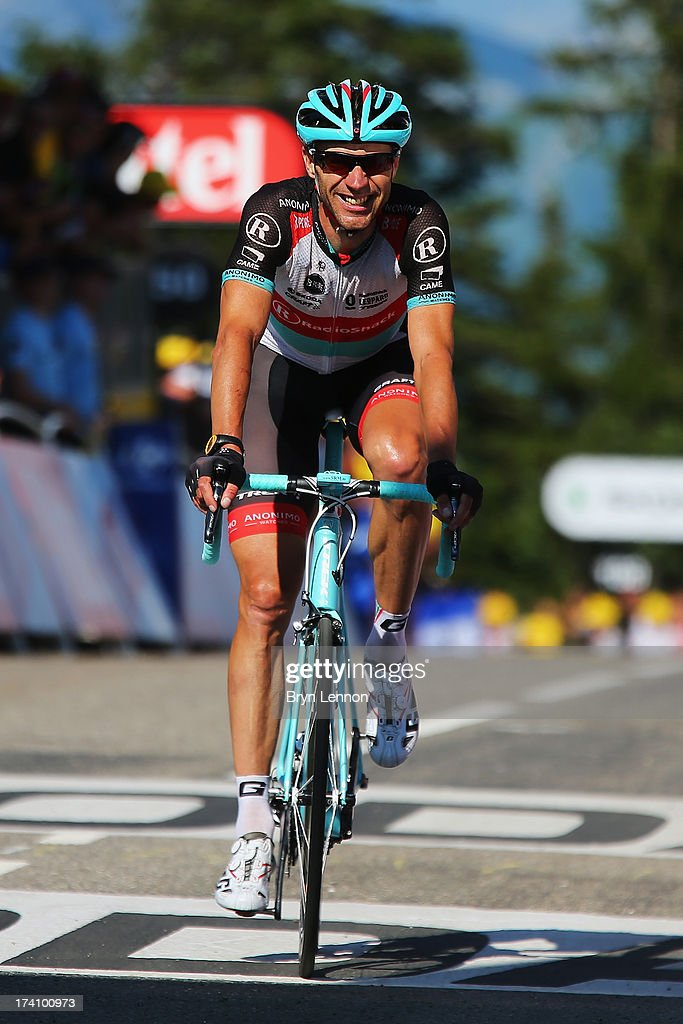 Jens Voigt of Germany and Team Radioshack Leopard crosses the finish line during stage twenty of the 2013 Tour de France, a 125KM road stage from Annecy to Annecy-Semnoz, on July 20, 2013 in Annecy, France.