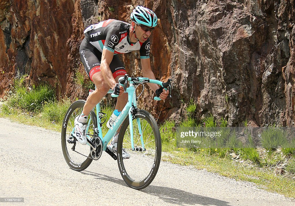 Jens Voigt of Germany and Team Radioshack Leopard descends the Col de Sarenne during stage eighteen of the 2013 Tour de France, a 172.5KM road stage from Gap to l'Alpe d'Huez, on July 18, 2013 in Alpe d'Huez, France.