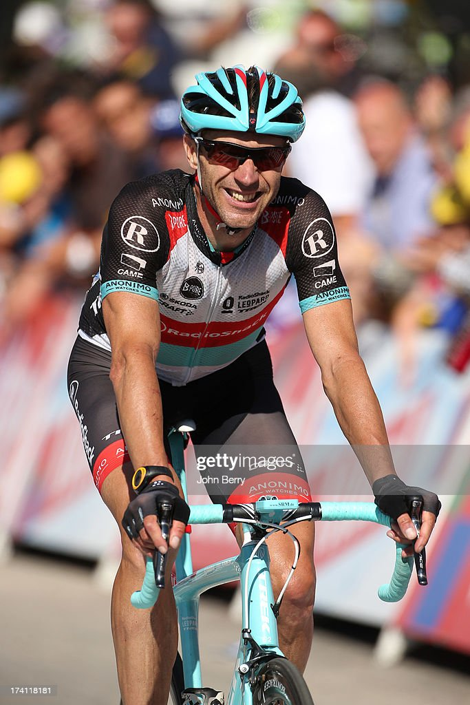 Jens Voigt of Germany and Team Radioshack Leopard finishes stage twenty of the 2013 Tour de France, a 125KM road stage from Annecy to Annecy-Semnoz, on July 20, 2013 in Annecy, France.