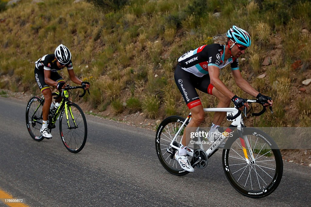 Jens Voigt of Germany and Team Radioshack Leopard TREK rides during stage one of the USA Pro Cycling Challenge on August 19, 2013 in Aspen, Colorado.