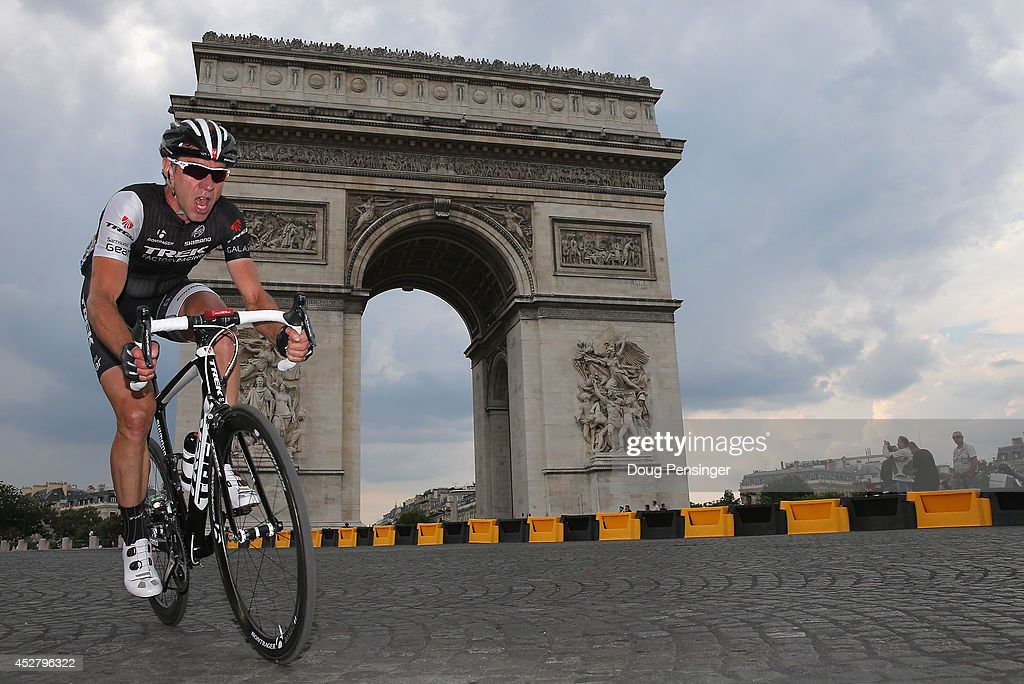 <a gi-track='captionPersonalityLinkClicked' href=/galleries/search?phrase=Jens+Voigt&family=editorial&specificpeople=224836 ng-click='$event.stopPropagation()'>Jens Voigt</a> of Germany and Trek in action during the twenty first stage of the 2014 Tour de France, a 138km stage from Evry into the Champs-Elysees, on July 27, 2014 in Paris, France.