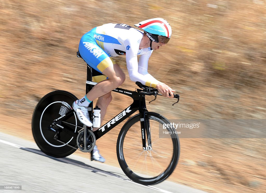 Jens Voigt of Germany races in the individual time trial during Stage 6 of the Tour of California on May 17, 2013 in San Jose, California.