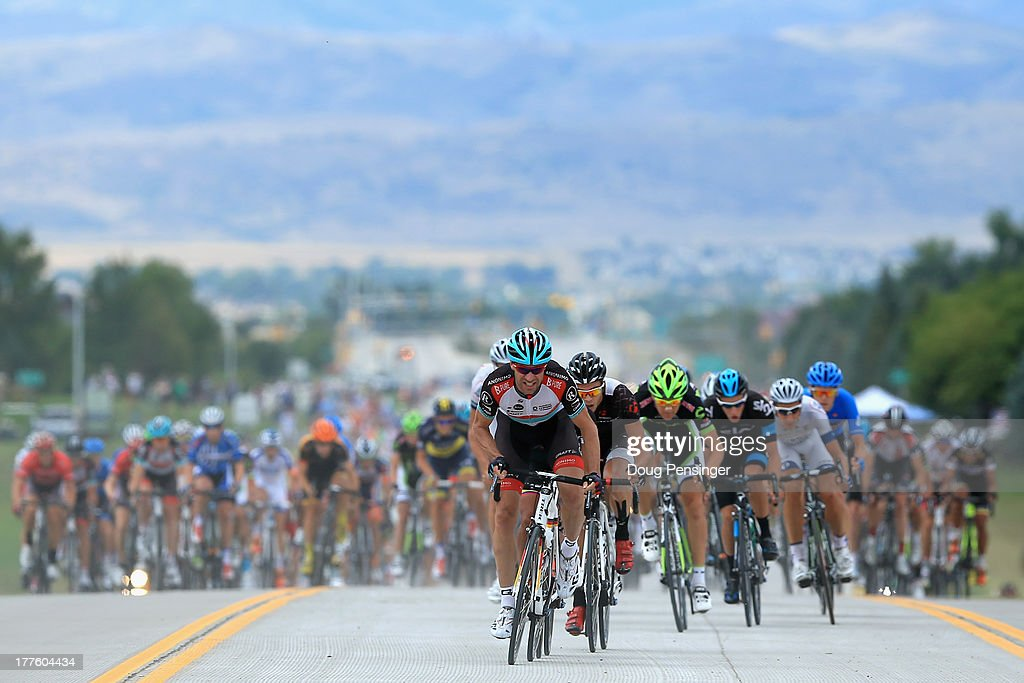 Jens Voigt of Germany riding for RadioShack Leopard Trek rides at the front of the peloton as he attempts to break away early in stage six of the 2013 USA Pro Challenge from Loveland to Fort Collins on August 24, 2013 in Loveland, Colorado.