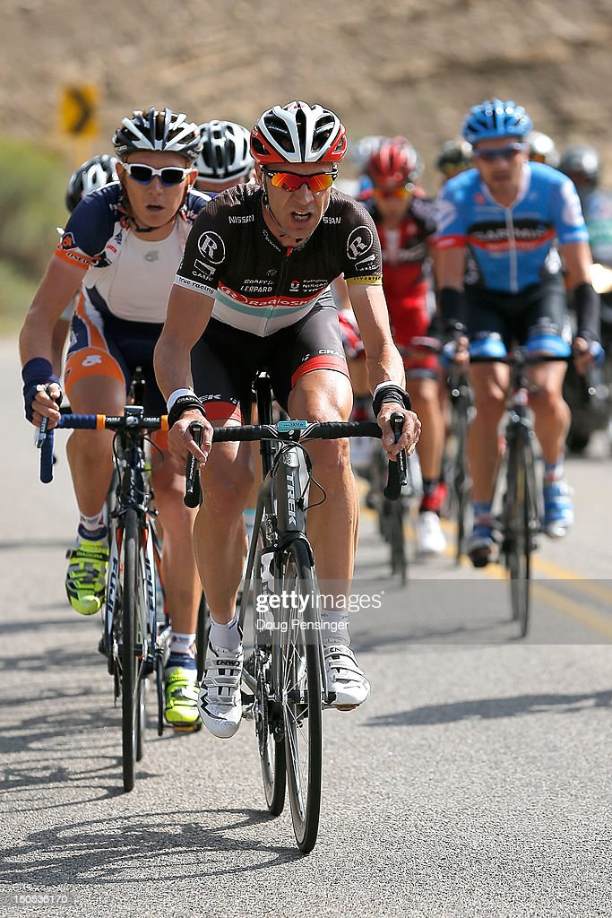 Jens Voigt of Germany riding for Radioshack-Nissan leads the breakaway during stage one of the USA Pro Challenge from Durango to Telluride on August 20, 2012 in Durango, Colorado.