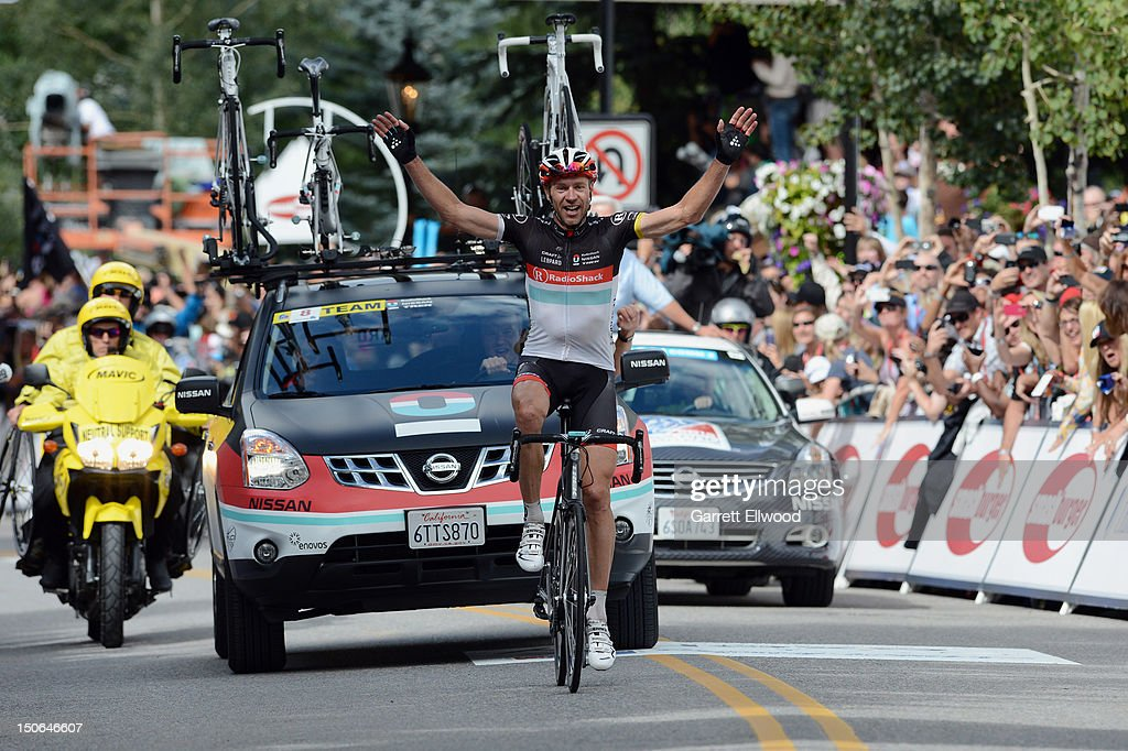 <a gi-track='captionPersonalityLinkClicked' href=/galleries/search?phrase=Jens+Voigt&family=editorial&specificpeople=224836 ng-click='$event.stopPropagation()'>Jens Voigt</a> of Germany riding for RadioShack-Nissan-TREK wins Stage Four of the USA Pro Challenge from Aspen to Beaver Creek on August 23, 2012 in Beaver Creek, Colorado. Copyright 2012