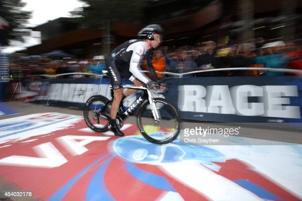 Jens Voigt of Germany riding for Trek Factory Racing competes in the individual time trial during Stage 6 of the 2014 USA Pro Challenge on August 23...