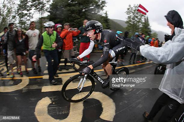 Jens Voigt of Germany riding for Trek Factory Racing races to 18th place in the individual time trial during stage six of the 2014 USA Pro Challenge...