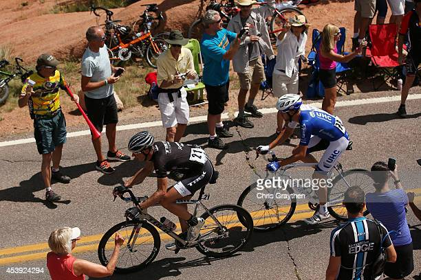 Jens Voigt of Germany riding for Trek Factory Racing rides in the breakaway during stage four of the 2014 USA Pro Challenge on August 21 2014 in...