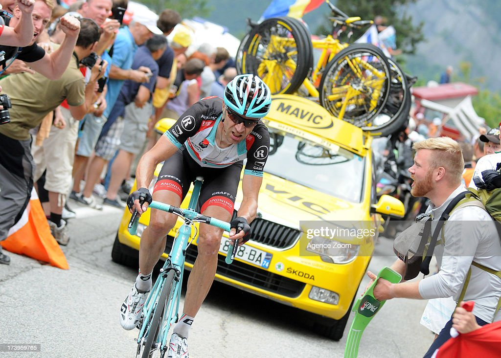 Jens Voigt of Team Radioshack Leopard during Stage 18 of the Tour de France on July 18, 2013, Gap to Alpe-d'Huez, France..