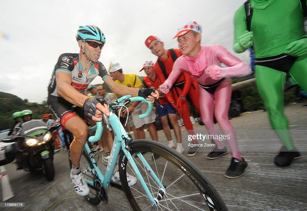Jens Voigt of Team Radioshack Leopard during Stage 18 of the Tour de France on July 18, 2013, Gap to Alpe-d'Huez, France..