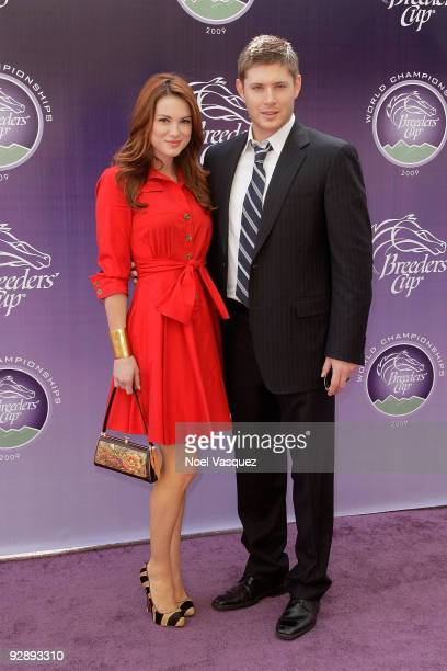 Jensen Ackles and Danneel Harris attends the Breeders' Cup World Thoroughbred Championships at Santa Anita Park on November 7 2009 in Los Angeles...