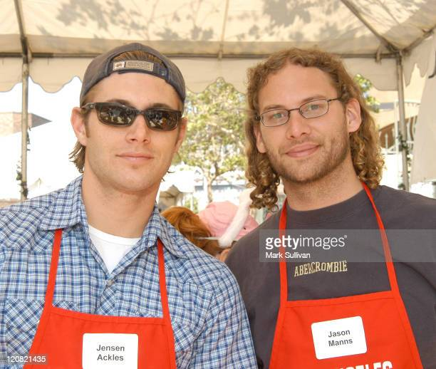 Jensen Ackles and Jason Manns during Los Angeles Mission 2003 Easter Meals For The Homeless at Los Angeles Mission in Los Angeles California United...
