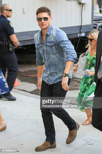 Jensen Ackles is seen at 'Conan' at Comic Con on July 19 2017 in San Diego California