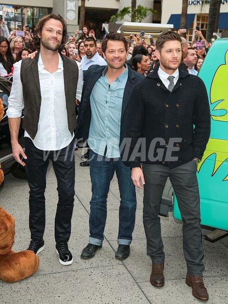 Jensen Ackles Jared Padalecki And Misha Collins Are Seen Arriving At