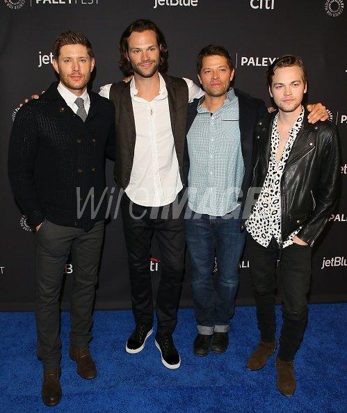 Jensen Ackles Jared Padalecki Misha Collins And Alexander Calvert