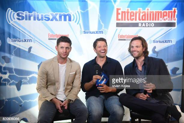 Jensen Ackles Misha Collins and Jared Padalecki attend SiriusXM's Entertainment Weekly Radio Channel Broadcasts From Comic Con 2017 at Hard Rock...