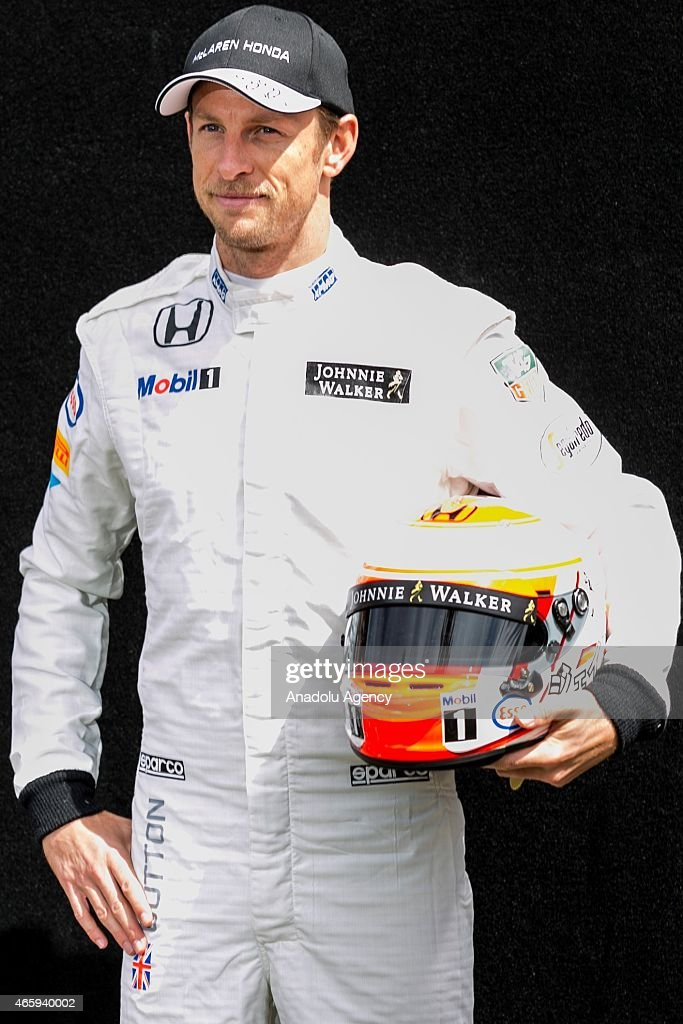 Jenson Button (GBR) #22 from the McLaren Honda team during the Driver Portrait photo session at the Rolex Australian Formula 1 Grand Prix, Albert Park, Melbourne, Victoria Australia on March 12, 2015. Asanka Brendon Ratnayake / Anadolu Agency