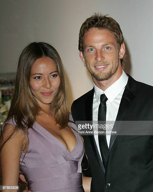 Jenson Button and girlfriend Jessica Michibata arrive for the F1 Gala Dinner on May 24 2009 in Monte Carlo Monaco