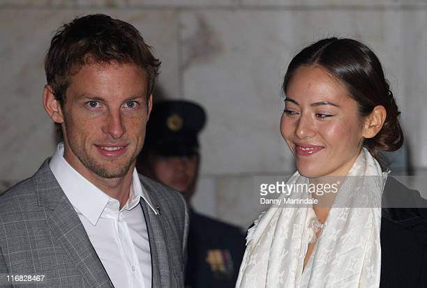 Jenson Button and Jessica Michibata attend the 2009 British Racing Drivers' Club Annual Awards at Hotel Intercontinental on December 7 2009 in London...