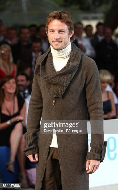 Jenson Button arrives for the Grand Prix and Fashion Unite at The Amber Lounge Le Meridien Beach Plaza Hotel Monaco