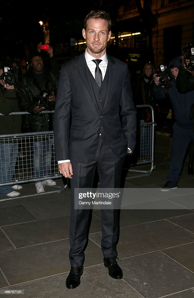 <a gi-track='captionPersonalityLinkClicked' href=/galleries/search?phrase=Jenson+Button&family=editorial&specificpeople=171505 ng-click='$event.stopPropagation()'>Jenson Button</a> attends the VIP private view of David Bailey: Bailey's Stardust at National Portrait Gallery on February 3, 2014 in London, England.