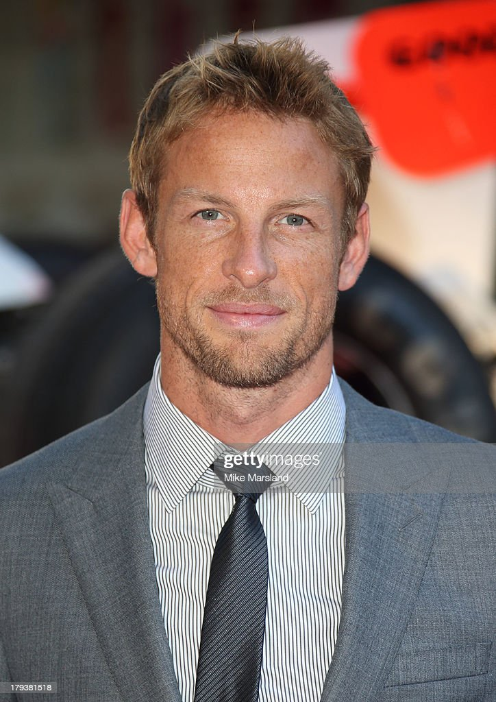 <a gi-track='captionPersonalityLinkClicked' href=/galleries/search?phrase=Jenson+Button&family=editorial&specificpeople=171505 ng-click='$event.stopPropagation()'>Jenson Button</a> attends the World Premiere of 'Rush' at Odeon Leicester Square on September 2, 2013 in London, England.