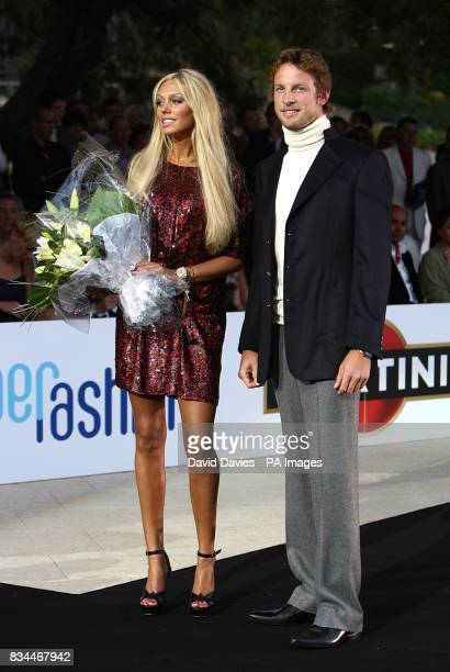Jenson Button models at the Grand Prix and Fashion Unite at The Amber Lounge Le Meridien Beach Plaza Hotel Monaco